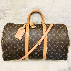 Authentic Louis Vuitton Keepall 50 #8.7z